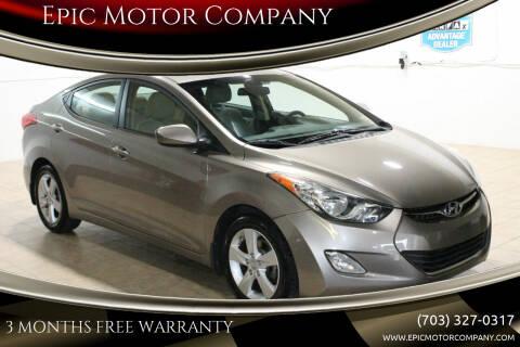 2013 Hyundai Elantra for sale at Epic Motor Company in Chantilly VA