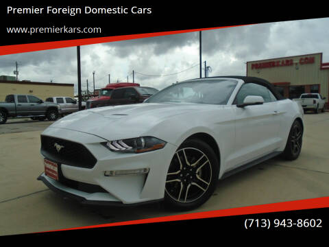 2019 Ford Mustang for sale at Premier Foreign Domestic Cars in Houston TX