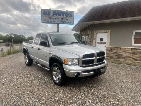 2005 Dodge Ram Pickup 1500 for sale at 83 Autos in York PA