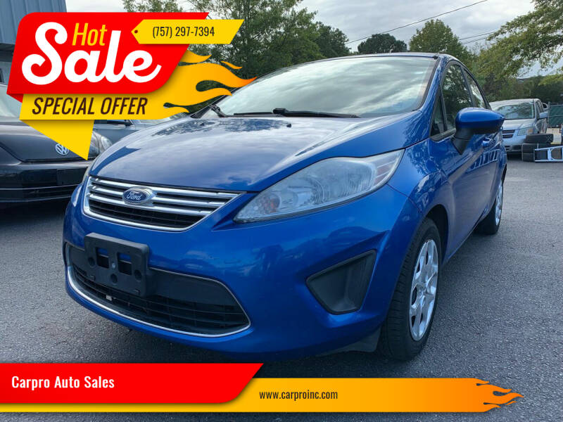 2011 Ford Fiesta for sale at Carpro Auto Sales in Chesapeake VA