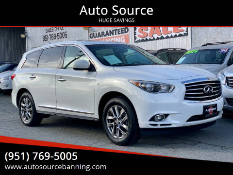 2014 Infiniti QX60 for sale at Auto Source II in Banning CA