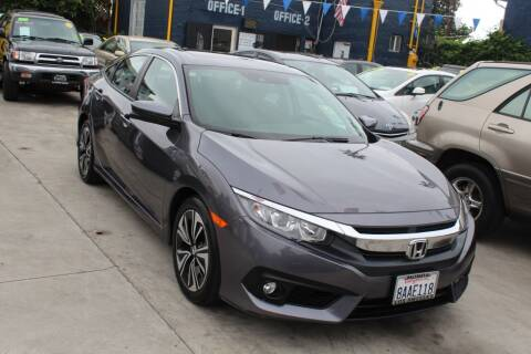 2017 Honda Civic for sale at FJ Auto Sales North Hollywood in North Hollywood CA