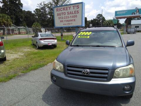 2007 Toyota Highlander for sale at Rickey T's Auto Sales in Garden City GA