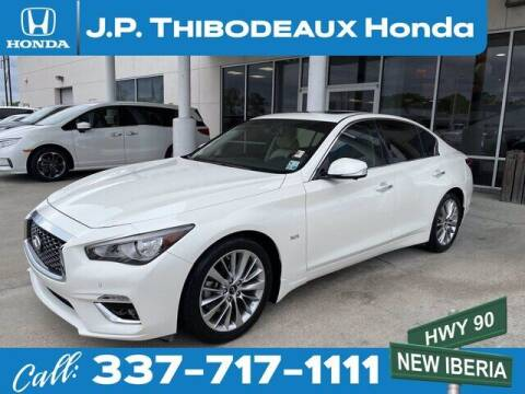 2018 Infiniti Q50 for sale at J P Thibodeaux Used Cars in New Iberia LA