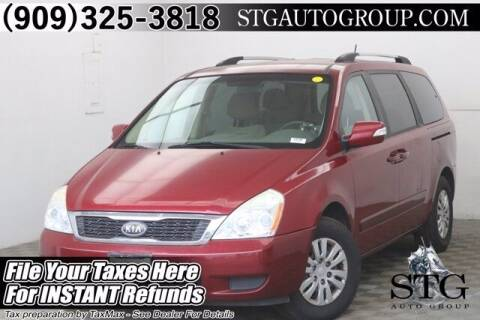 2012 Kia Sedona for sale at STG Auto Group in Montclair CA