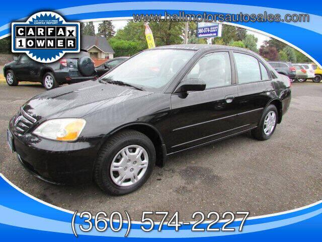 2001 Honda Civic for sale at Hall Motors LLC in Vancouver WA