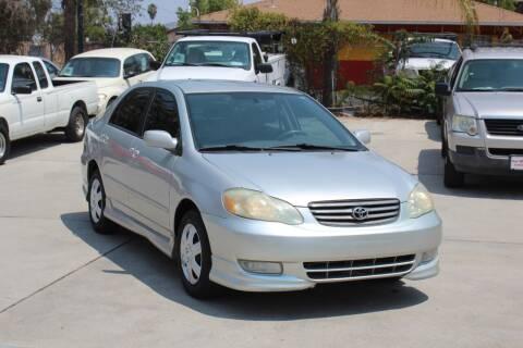 2004 Toyota Corolla for sale at Car 1234 inc in El Cajon CA