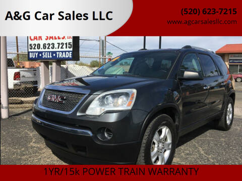 2011 GMC Acadia for sale at A&G Car Sales  LLC in Tucson AZ