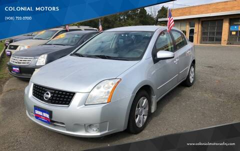 2009 Nissan Sentra for sale at COLONIAL MOTORS in Branchburg NJ