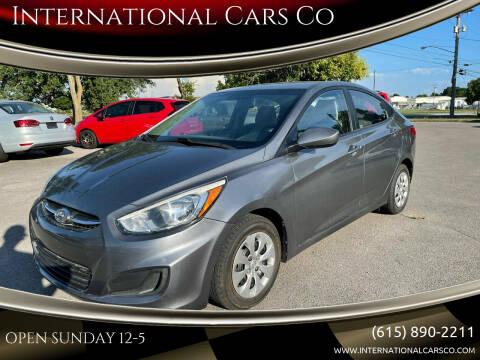 2015 Hyundai Accent for sale at International Cars Co in Murfreesboro TN