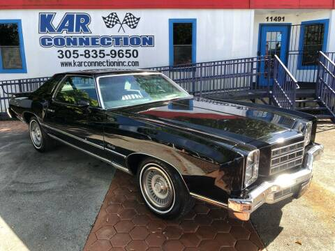 1977 Chevrolet Monte Carlo for sale at Kar Connection in Miami FL