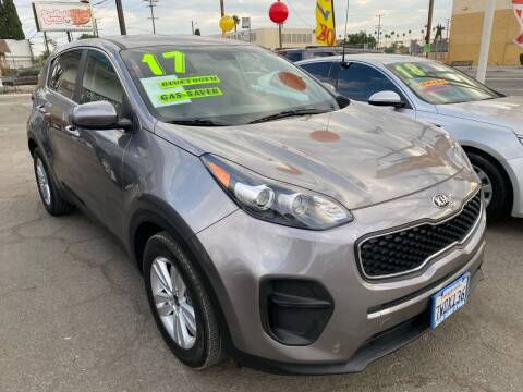 2017 Kia Sportage for sale at CAR GENERATION CENTER, INC. in Los Angeles CA