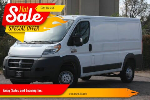 2015 RAM ProMaster Cargo for sale at Ariay Sales and Leasing Inc. - Pre Owned Storage Lot in Denver CO