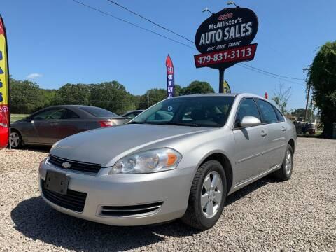 2007 Chevrolet Impala for sale at McAllister's Auto Sales LLC in Van Buren AR