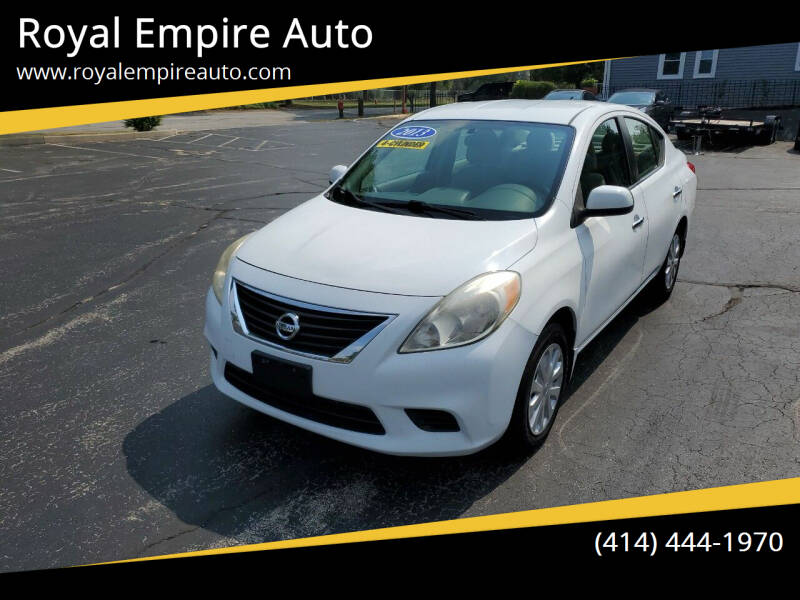 2012 Nissan Versa for sale at Royal Empire Auto in Milwaukee WI