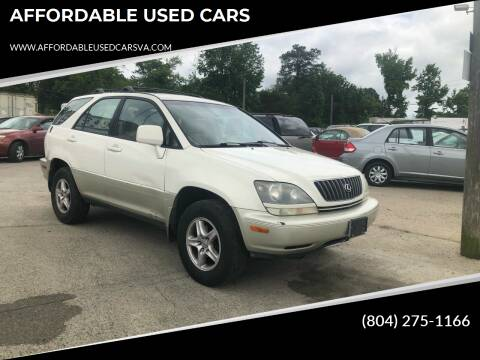 2000 Lexus RX 300 for sale at AFFORDABLE USED CARS in Richmond VA
