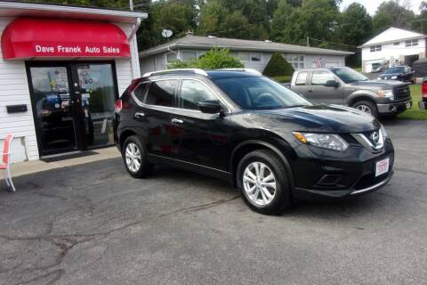 2016 Nissan Rogue for sale at Dave Franek Automotive in Wantage NJ