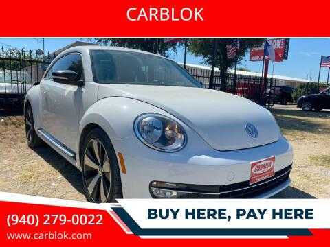 2012 Volkswagen Beetle for sale at CARBLOK in Lewisville TX