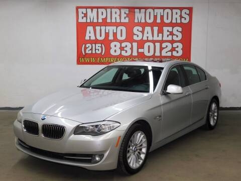2012 BMW 5 Series for sale at EMPIRE MOTORS AUTO SALES in Philadelphia PA
