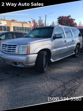 2004 Cadillac Escalade ESV for sale at 2 Way Auto Sales in Spokane Valley WA