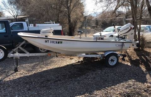 1990 boston whaler 13' 25 hp evinrude for sale at AUTO BROKER CENTER in Lolo MT