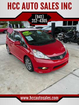 2012 Honda Fit for sale at HCC AUTO SALES INC in Sarasota FL