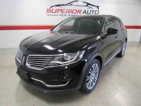 2016 Lincoln MKX for sale at Superior Auto Sales in New Windsor NY