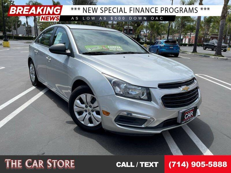 2015 Chevrolet Cruze for sale at The Car Store in Santa Ana CA