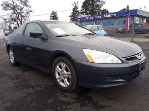 2007 Honda Accord for sale at All American Motors in Tacoma WA