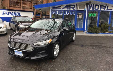2016 Ford Fusion for sale at Car World Inc in Arlington VA