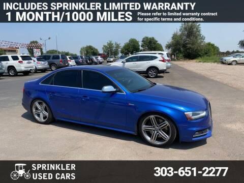 2015 Audi S4 for sale at Sprinkler Used Cars in Longmont CO