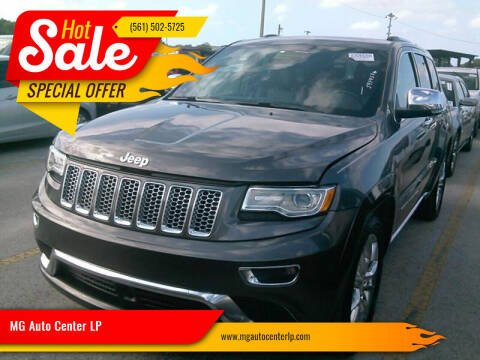 2015 Jeep Grand Cherokee for sale at MG Auto Center LP in Lake Park FL