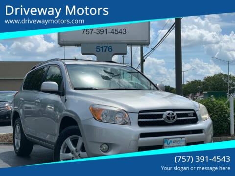 2007 Toyota RAV4 for sale at Driveway Motors in Virginia Beach VA