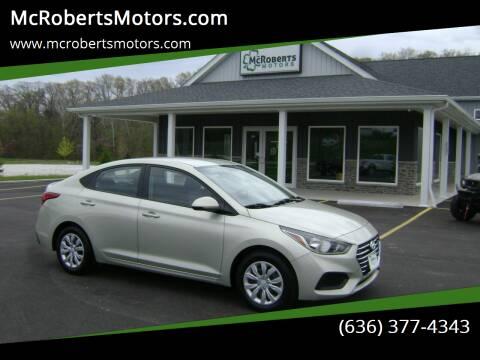 2019 Hyundai Accent for sale at McRobertsMotors.com in Warrenton MO