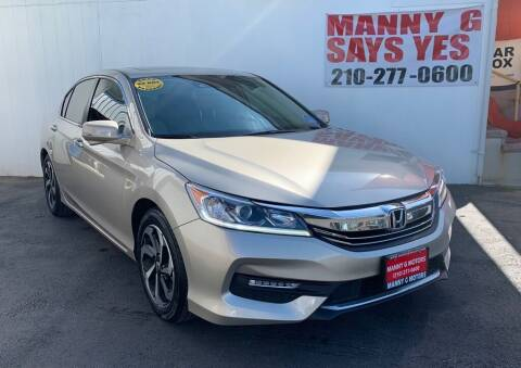 2017 Honda Accord for sale at Manny G Motors in San Antonio TX