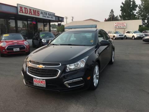 2015 Chevrolet Cruze for sale at Adams Auto Sales in Sacramento CA