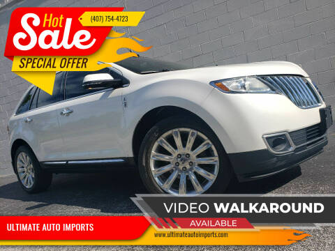 2013 Lincoln MKX for sale at ULTIMATE AUTO IMPORTS in Longwood FL