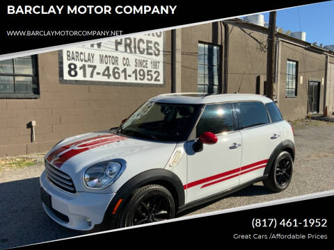 2012 MINI Cooper Countryman for sale at BARCLAY MOTOR COMPANY in Arlington TX