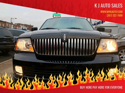 2006 Lincoln Navigator for sale at K J AUTO SALES in Philadelphia PA