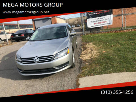 2014 Volkswagen Passat for sale at MEGA MOTORS GROUP in Redford MI