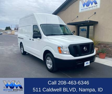 2012 Nissan NV Cargo for sale at Western Mountain Bus & Auto Sales in Nampa ID
