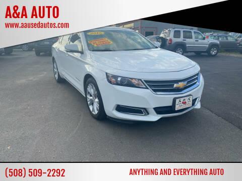 2015 Chevrolet Impala for sale at A&A AUTO in Fairhaven MA