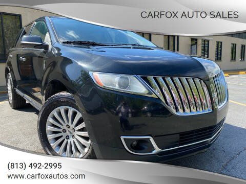 2014 Lincoln MKX for sale at Carfox Auto Sales in Tampa FL