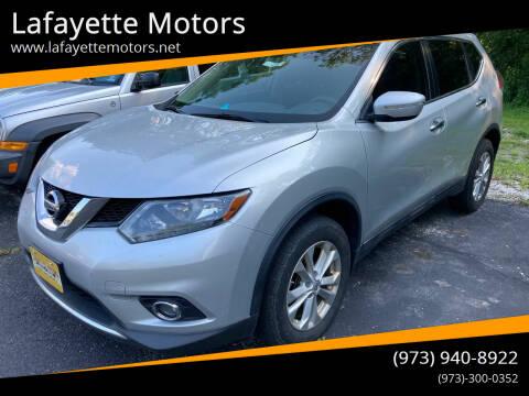 2015 Nissan Rogue for sale at Lafayette Motors in Lafayette NJ