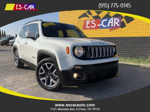 2015 Jeep Renegade for sale at Escar Auto - 9809 Montana Ave Lot in El Paso TX