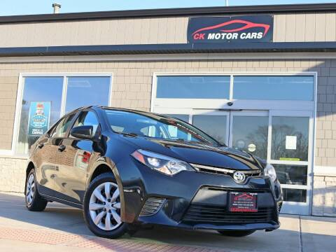 2016 Toyota Corolla for sale at CK MOTOR CARS in Elgin IL