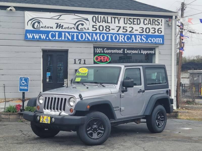 2013 Jeep Wrangler for sale at Clinton MotorCars in Shrewsbury MA