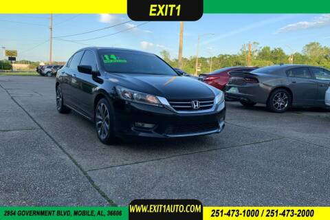 2014 Honda Accord for sale at Exit 1 Auto in Mobile AL