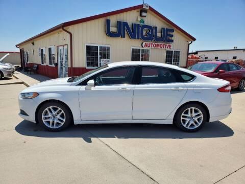 "2015 Ford Fusion for sale at UNIQUE AUTOMOTIVE ""BE UNIQUE"" in Garden City KS"