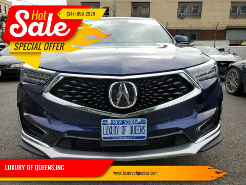 2019 Acura RDX for sale at LUXURY OF QUEENS,INC in Long Island City NY
